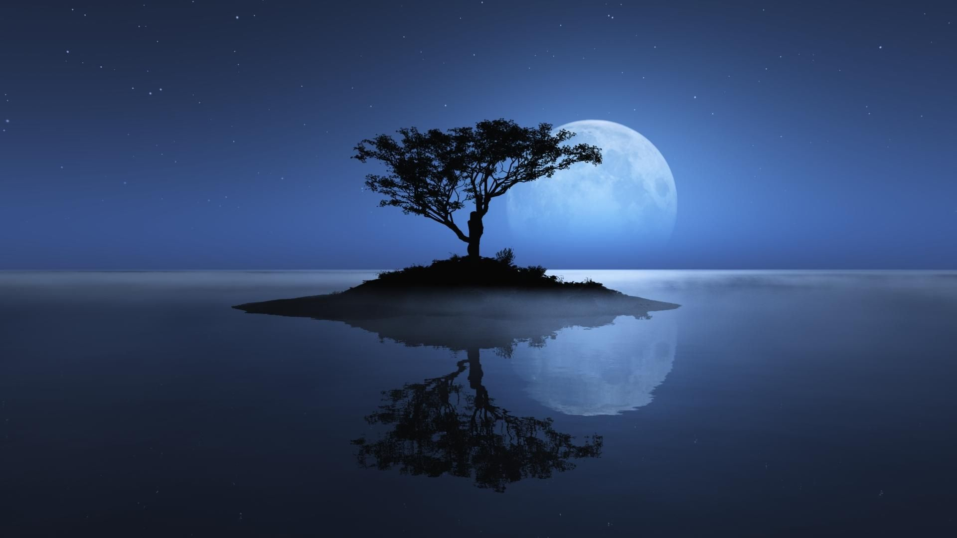 3d nature wallpaper | full moon night nature hd wallpapers 1080p