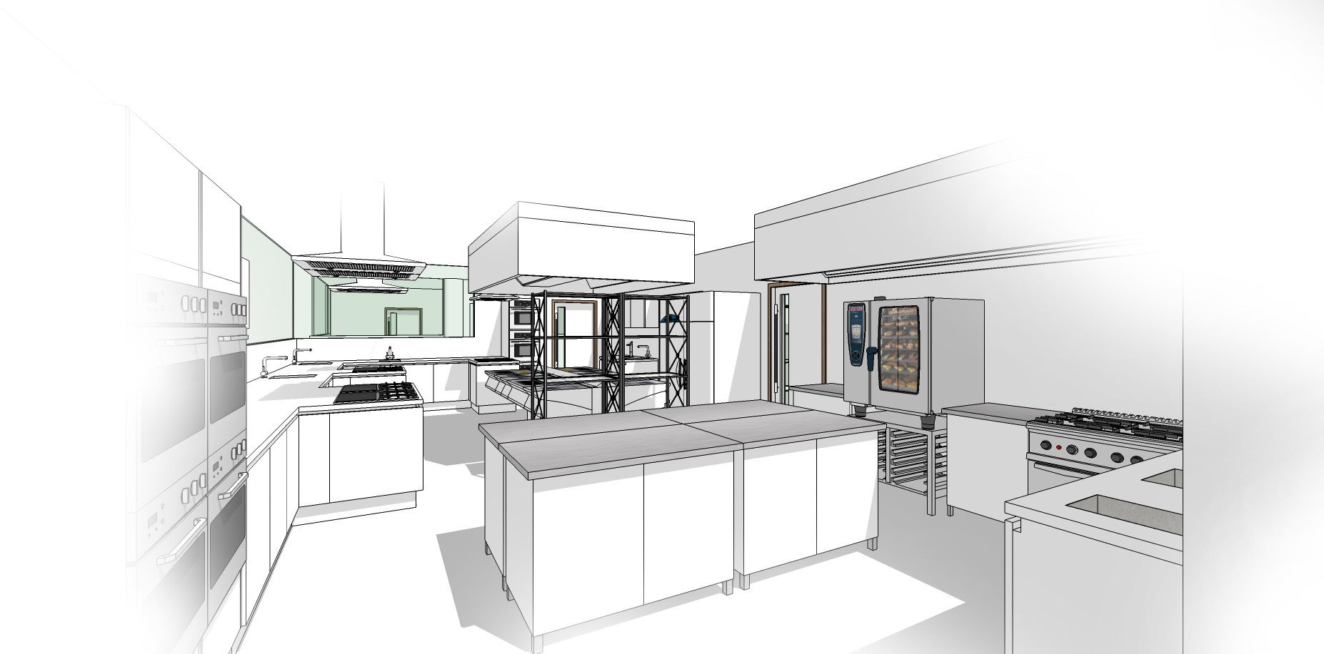 Commercial Kitchen Sketchup