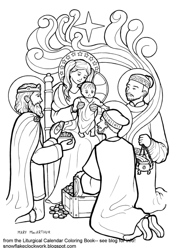 Epiphany Coloring Page