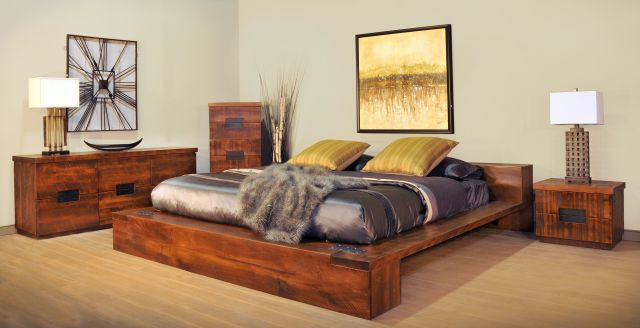 Arthur Philippe Platform Bed RUFF SAWN MAPLE BEDROOM