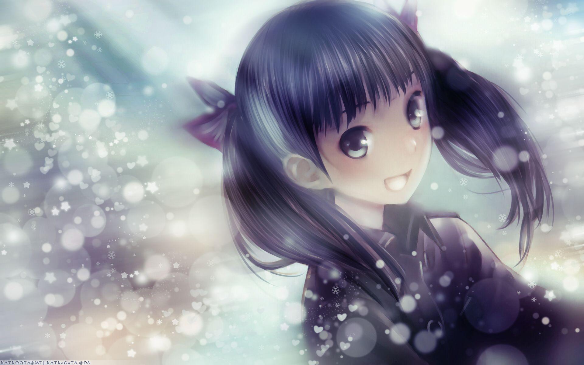 Anime Cute Girl HD Widescreen Desktop Wallpaper yay
