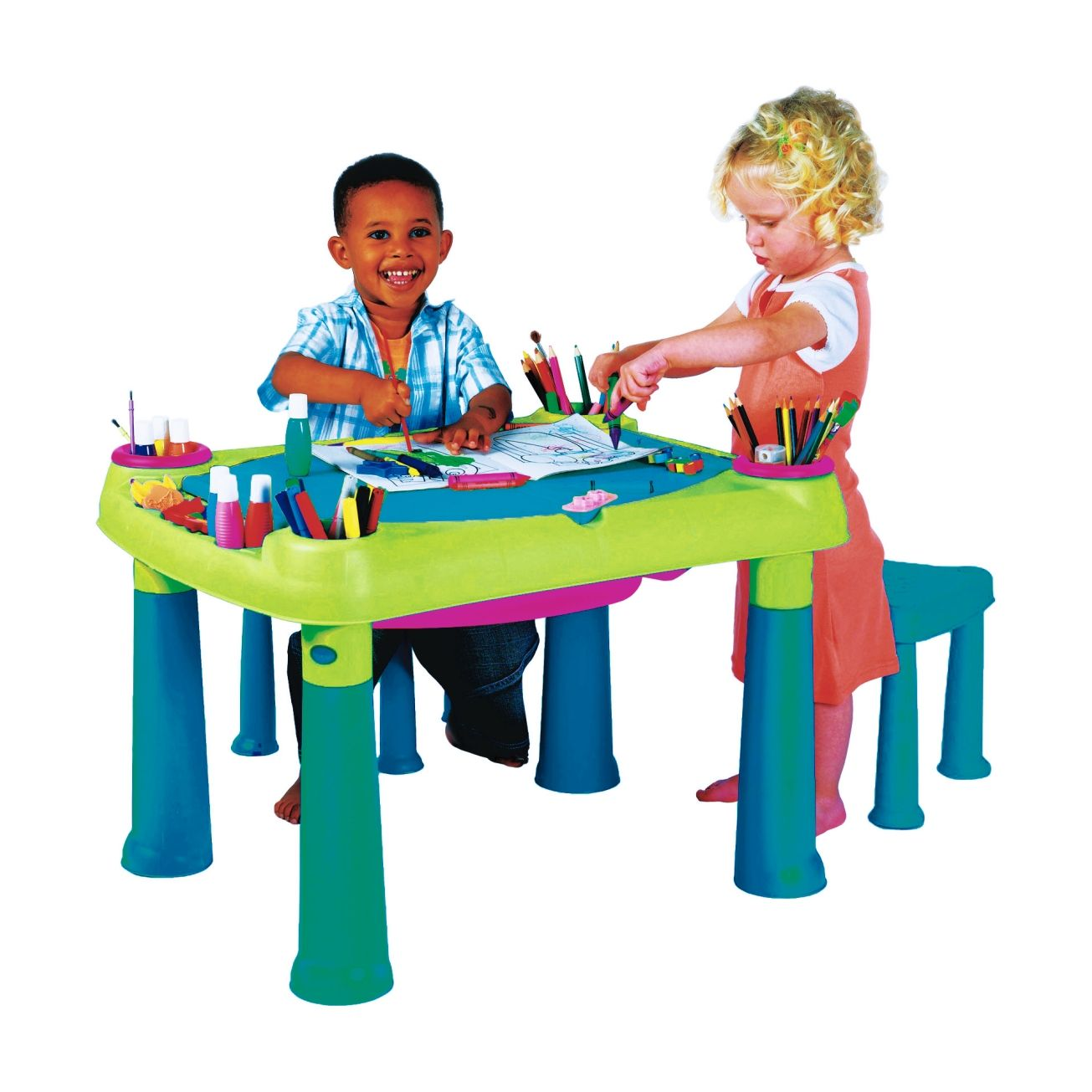 Keter MultiColored Kids Creative Table and Stools