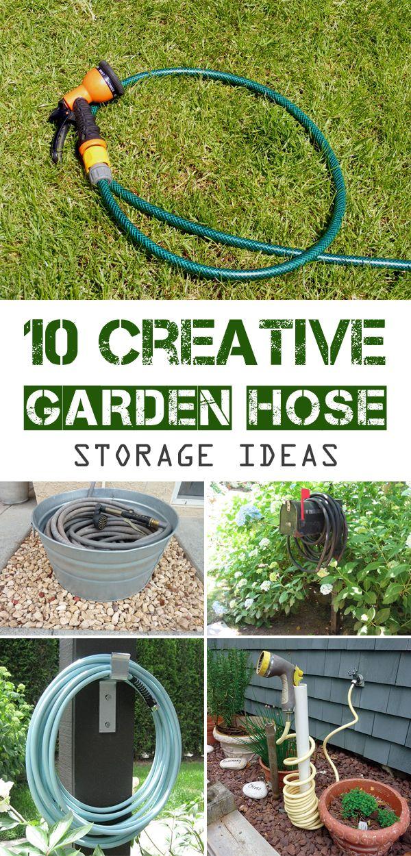 10 Creative Garden Hose Storage Ideas Garden hose