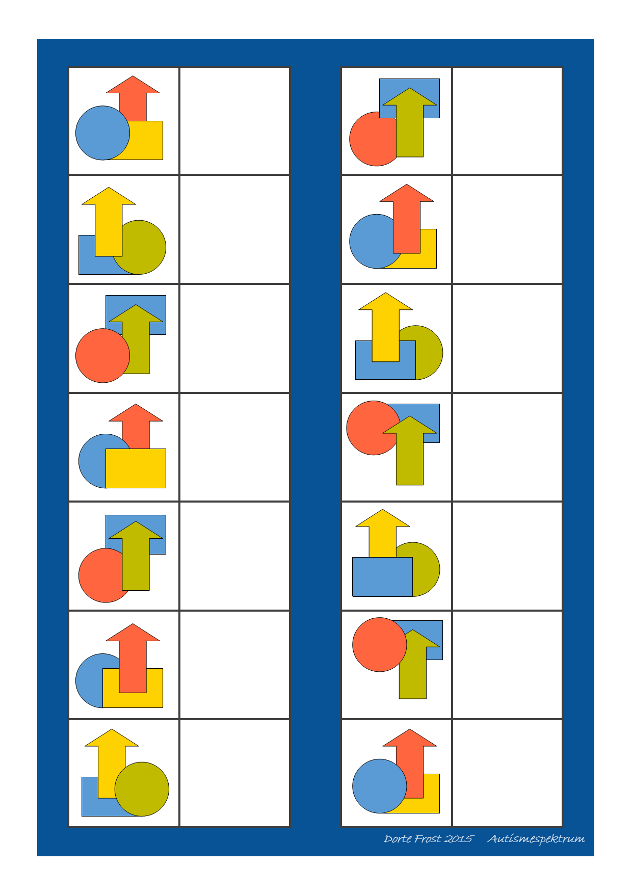 Matching Game Working With Visual Perception Print
