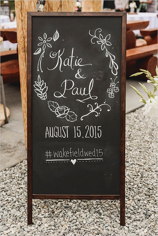 Country Vintage Wedding Wedding Chalkboards And Chalkboards