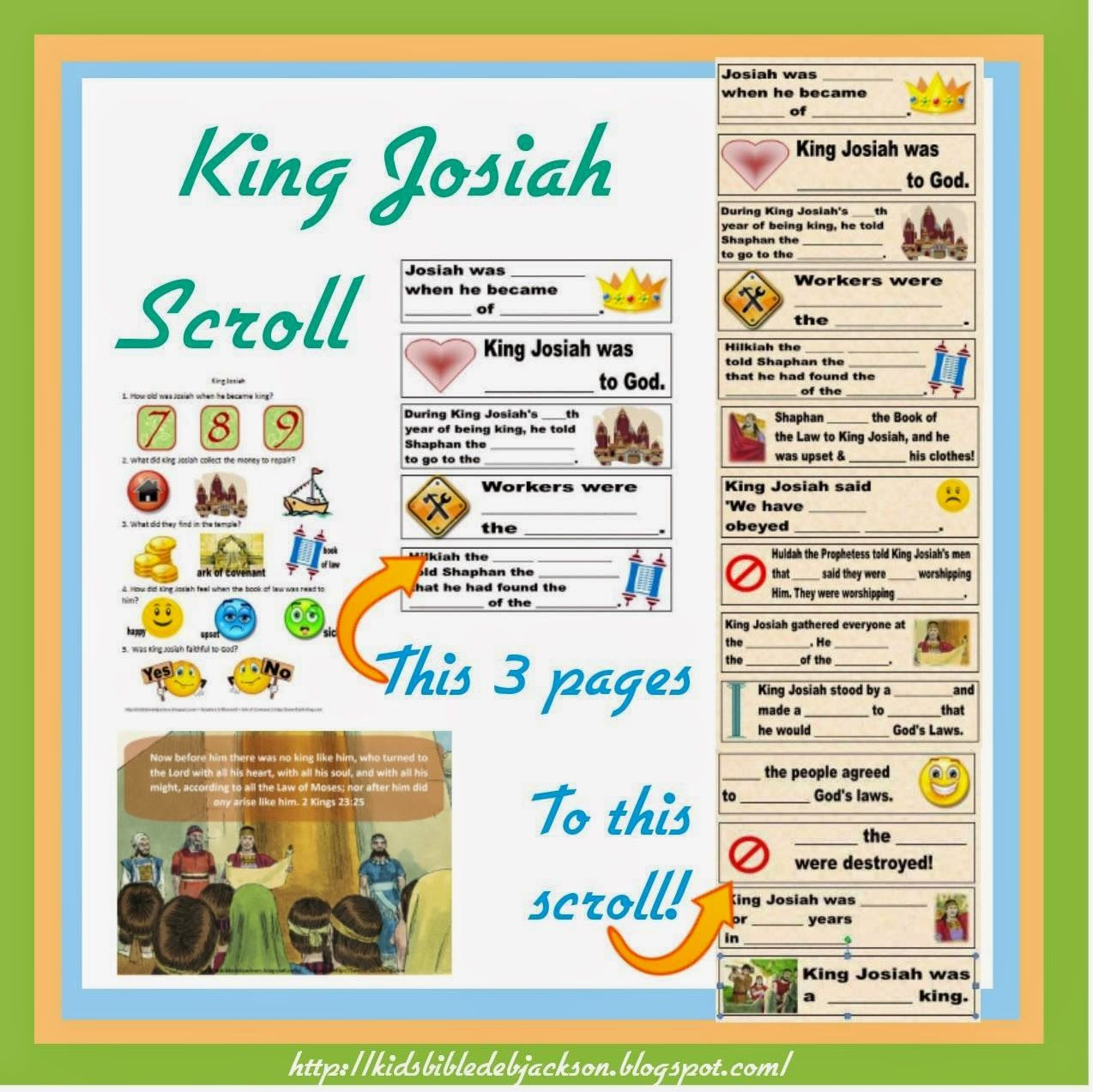 King Josiah Is Such A Fun Lesson For Kids There Are Some Really Great Things To Learn Too