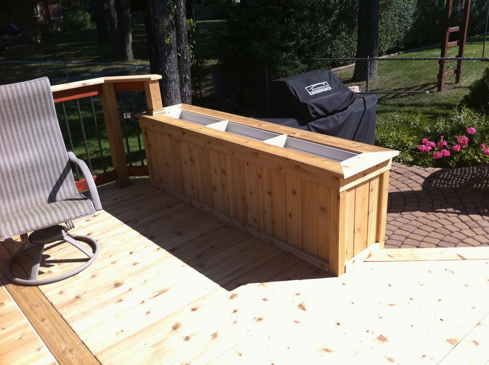 Cedar planter box, built from tongue and groove 1x6, 1x4