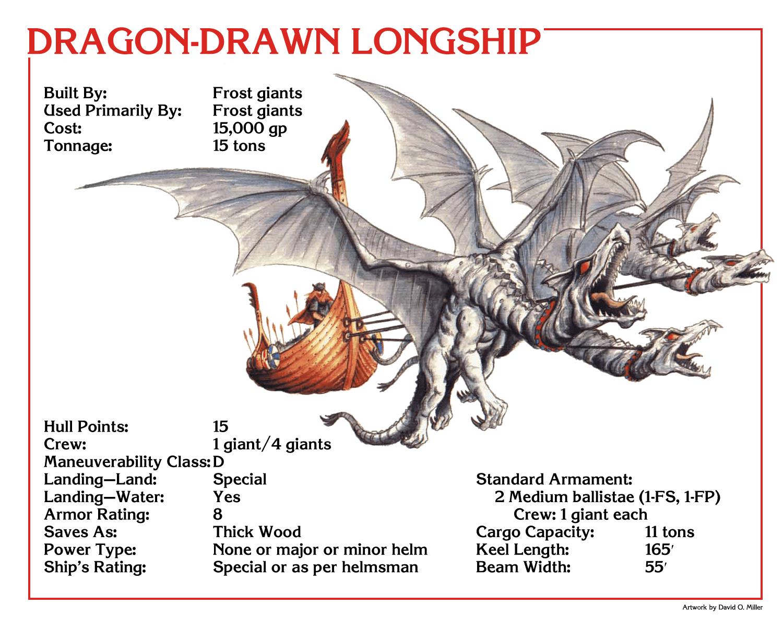 Mystaran Skyships In Spelljammer Part Vi Dragon Drawn