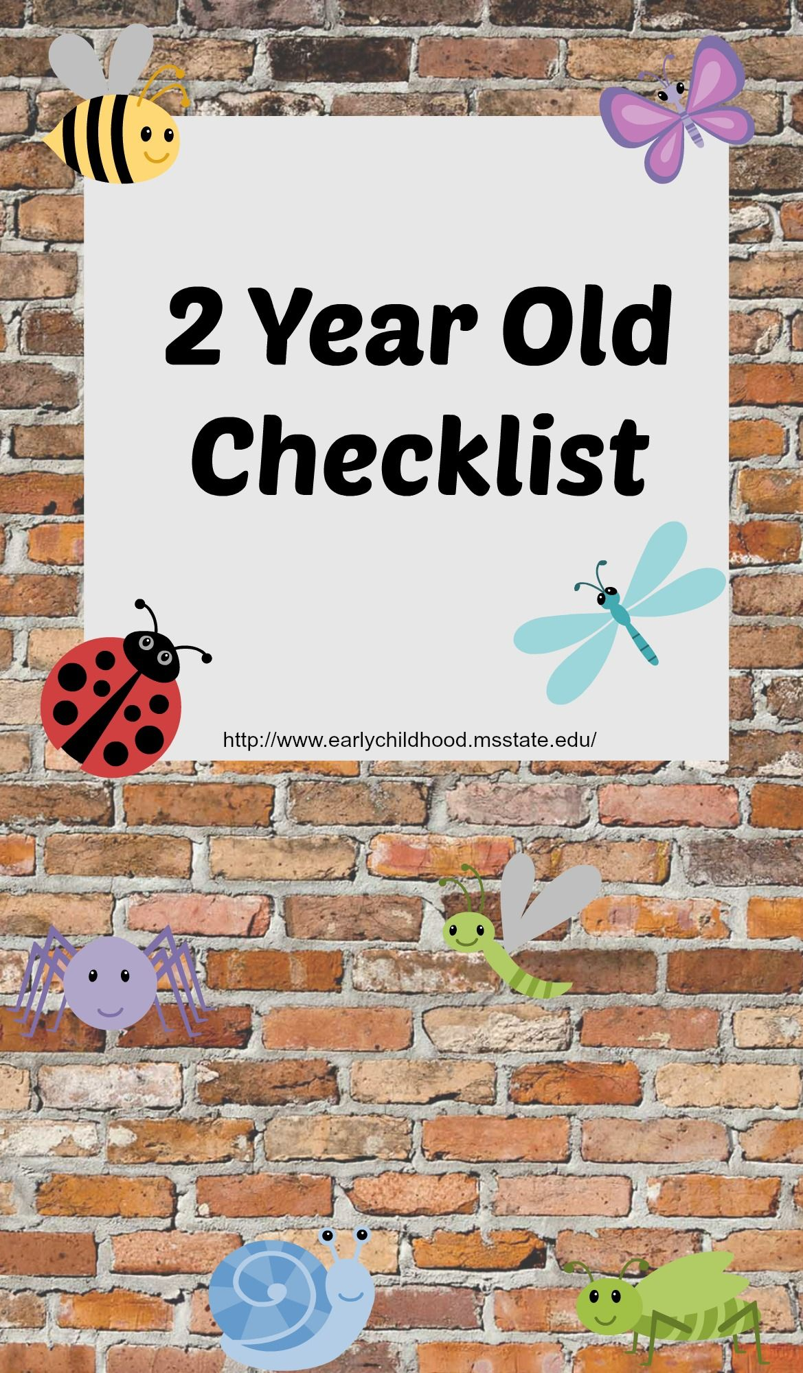 Checklist For 2 Year Old Developmental Skills
