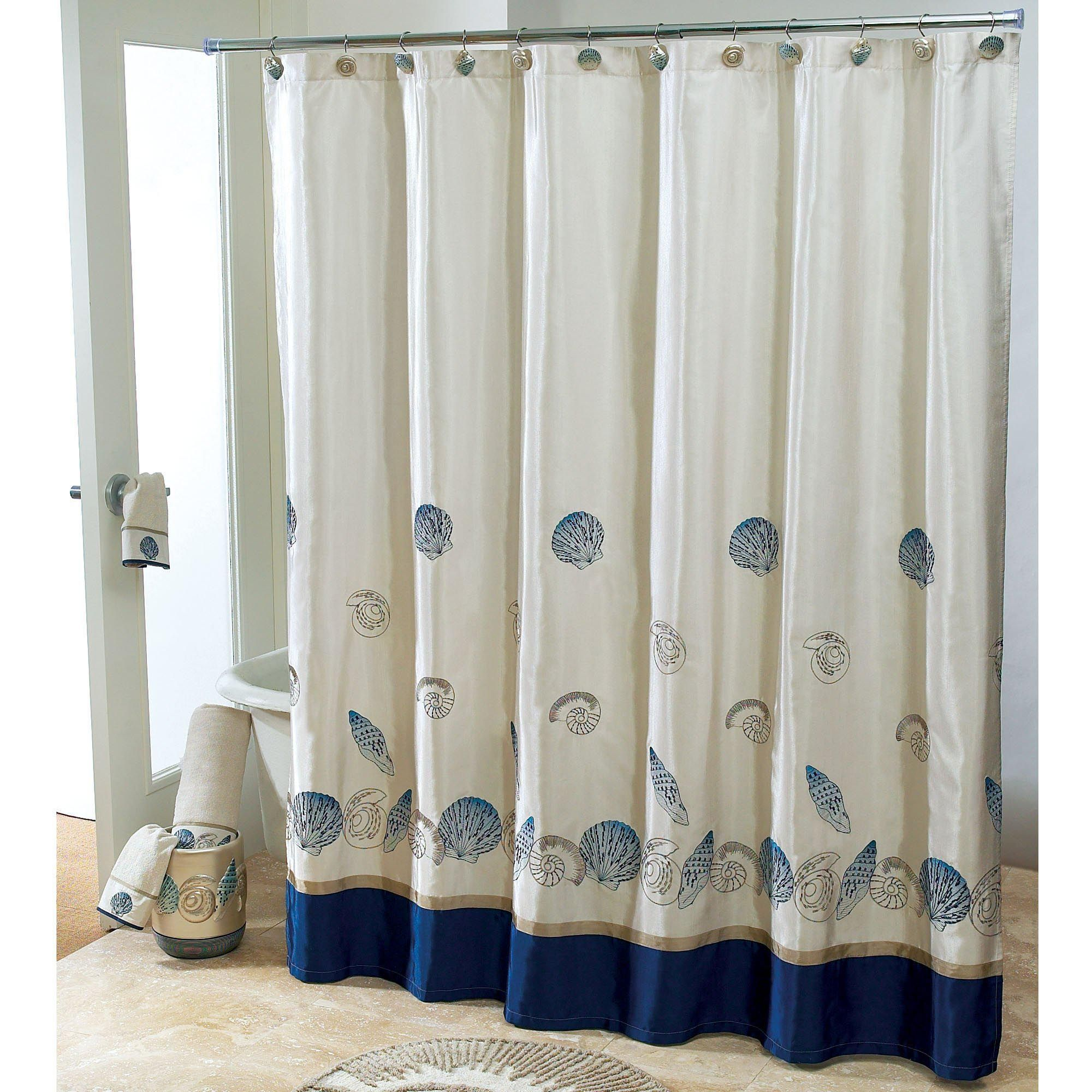 Purple Double Swag Shower Curtain With Valance