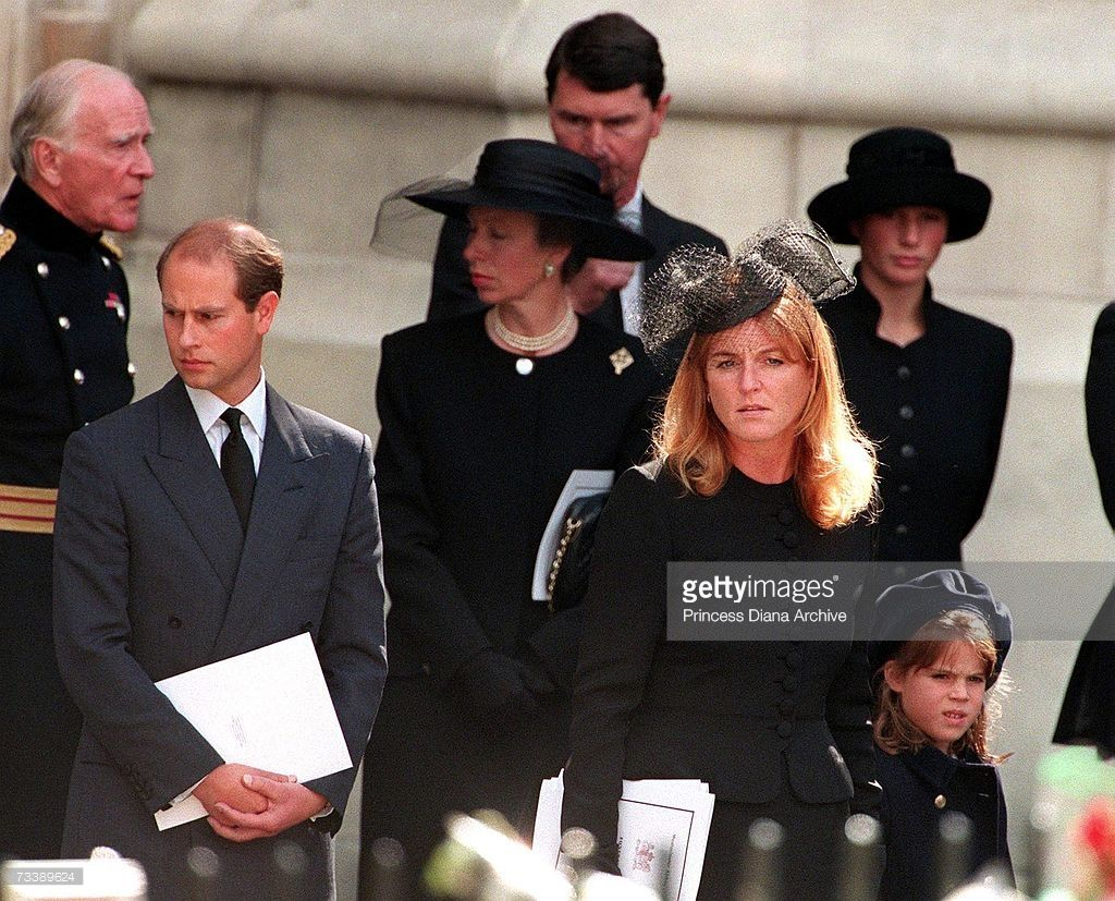 Prince Edward, Princess Anne, the Duchess of York and her
