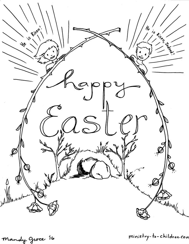 A Nice Selection Of Coloring Book Pages Especially For Easter