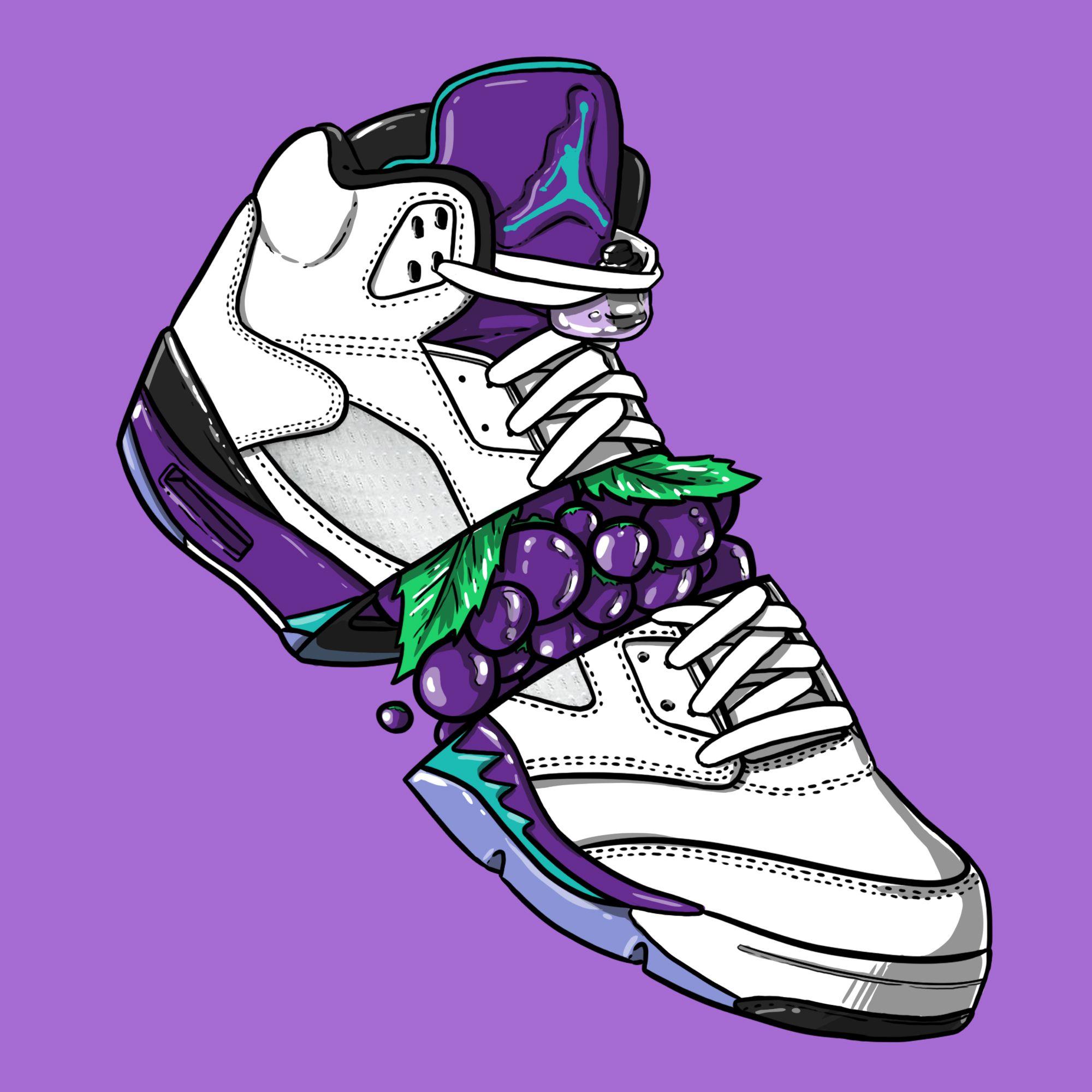 """Sneaker Art Jordan V """"Grape"""" Sneaker Art Pinterest"""