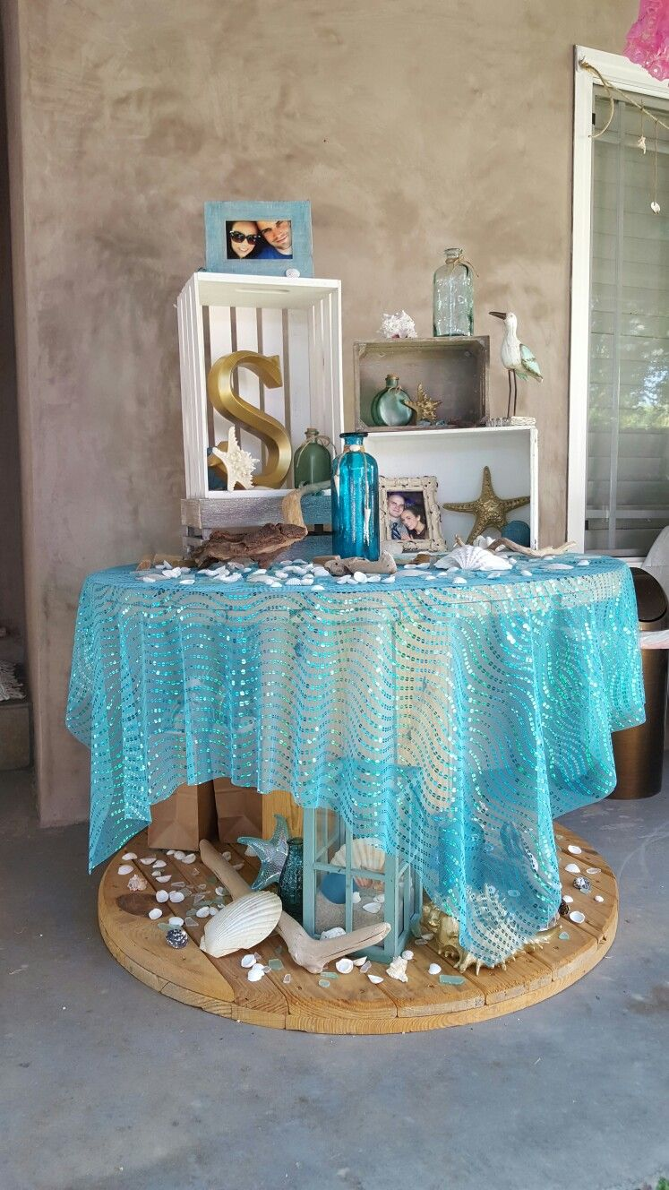 beach bridal shower theme ideas & decorations Ariels