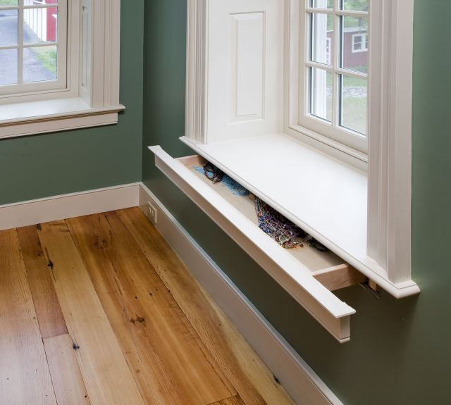 Window Sill Hidden Drawer open