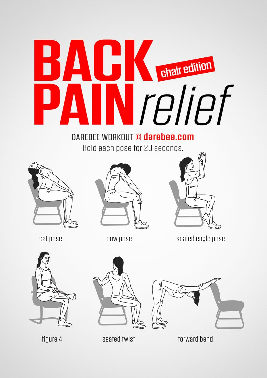 Back Pain Relief (Chair) workout. exercises for back