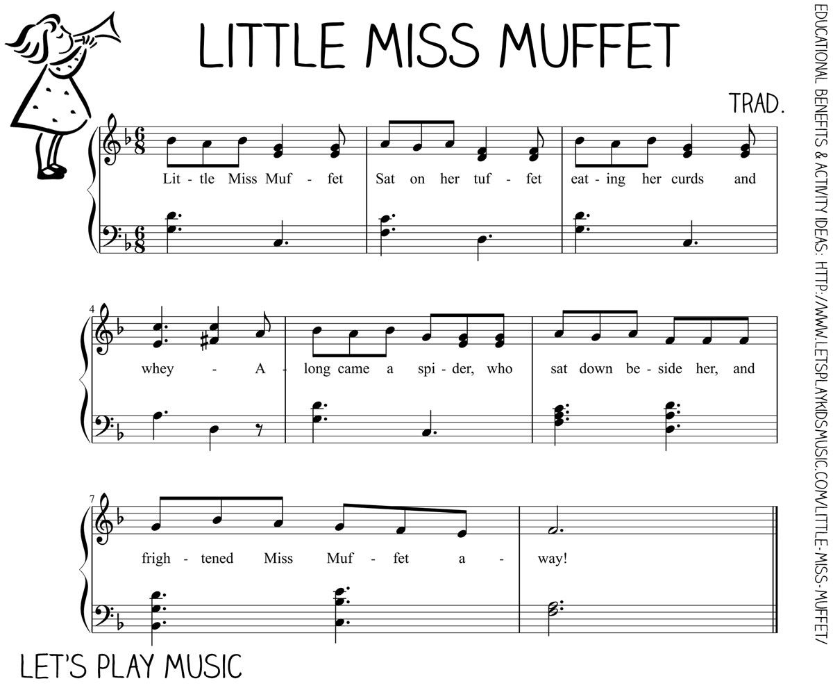 Little Miss Muffet And Spider Finger Rhymes