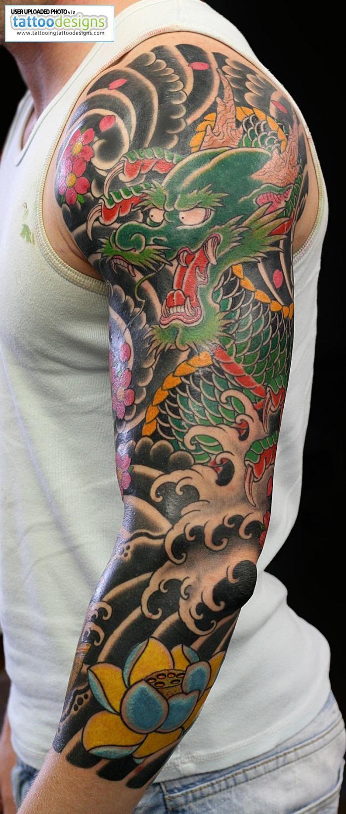 japanese dragon half sleeve tattoos Google Search