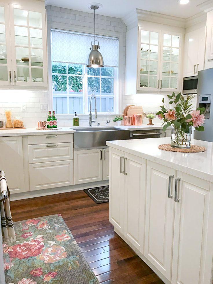 Ikea white modern farmhouse, kitchen. Kitchen Ideas