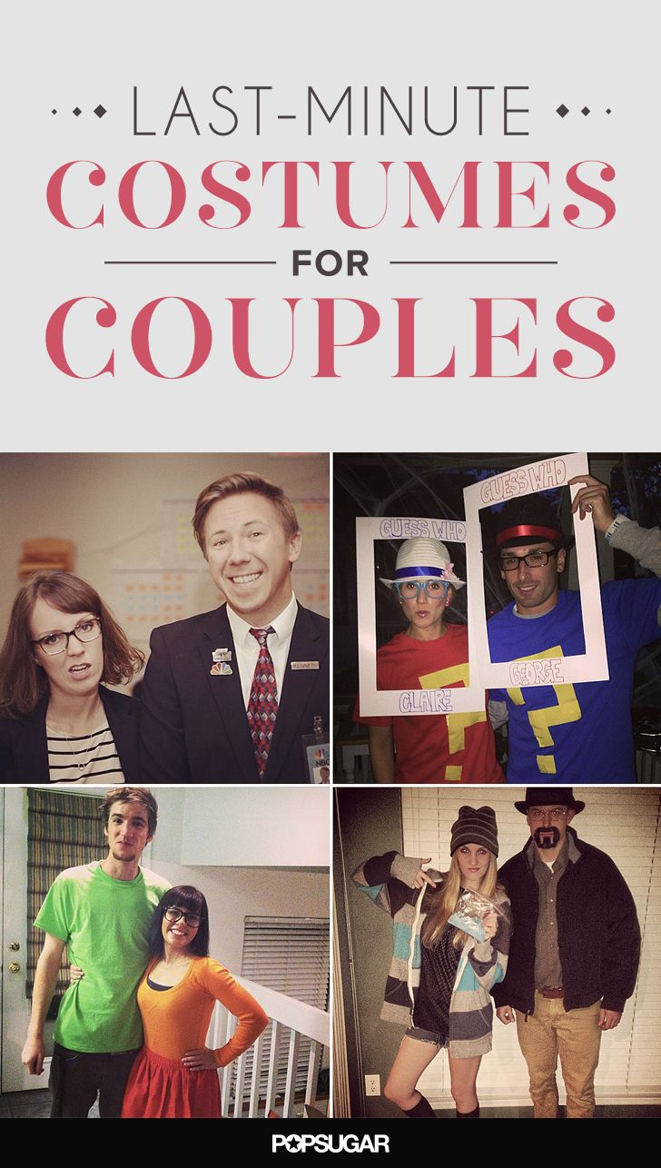 50 LastMinute Couples Costumes That Require Little to No