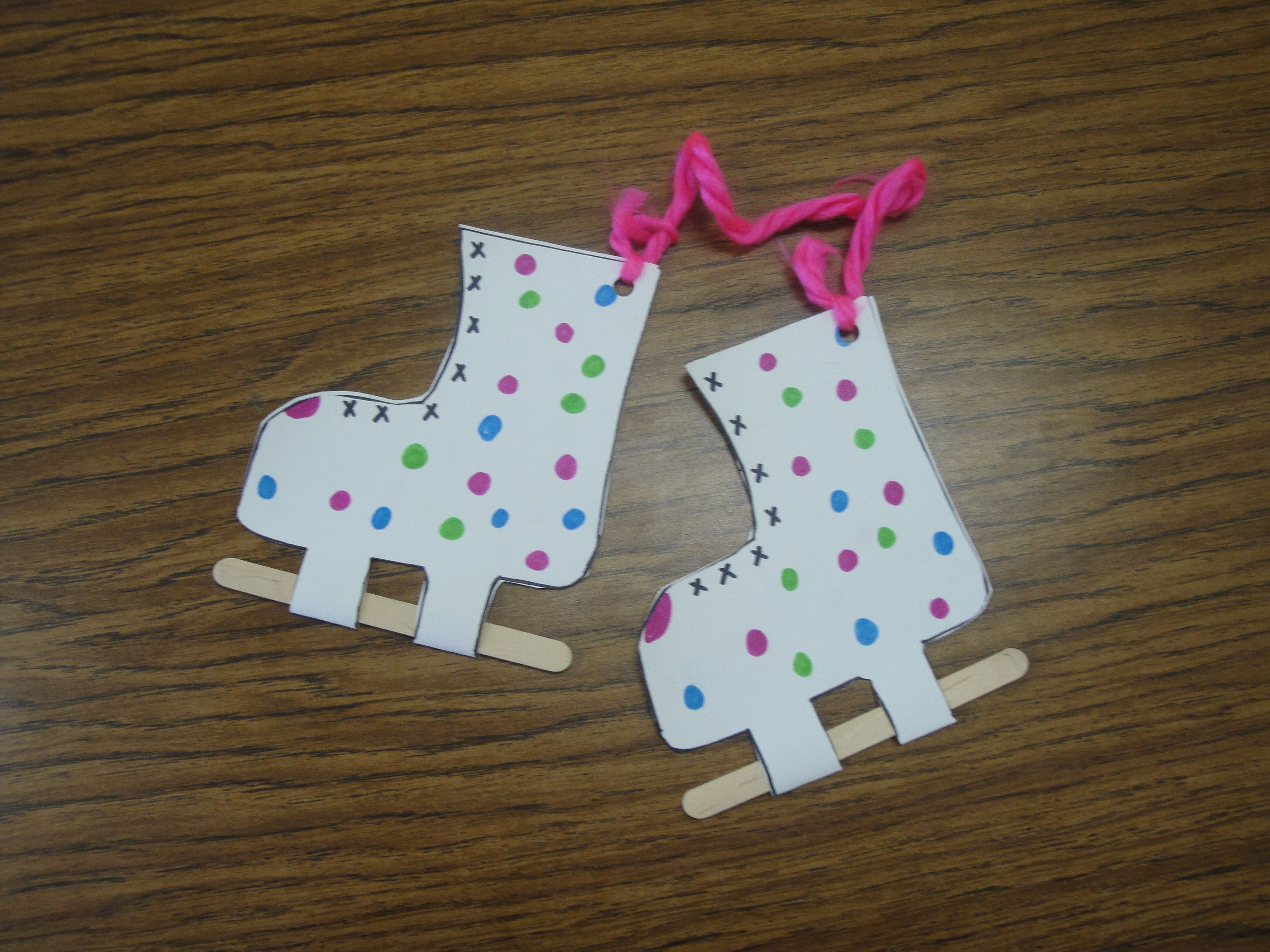 Ice Skates Craft And More Winter Program Ideas