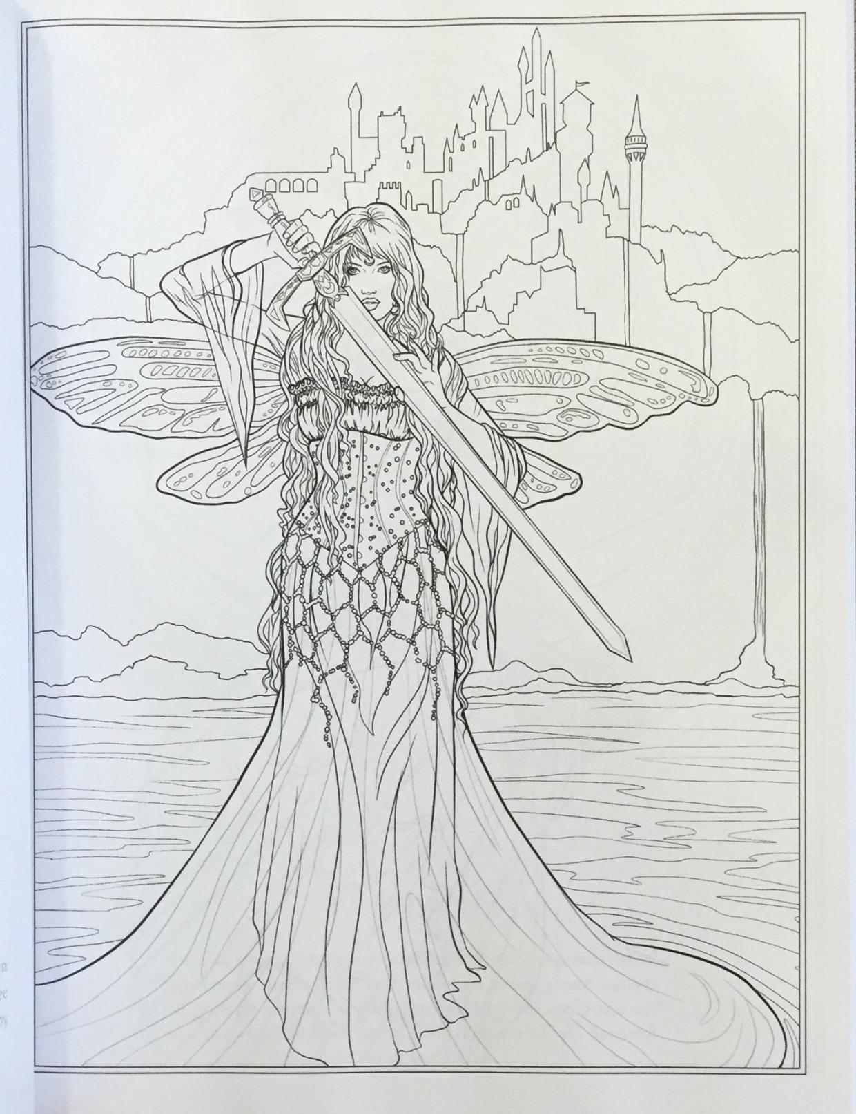 Amazon Goddess And Mythology Coloring Book Fantasy