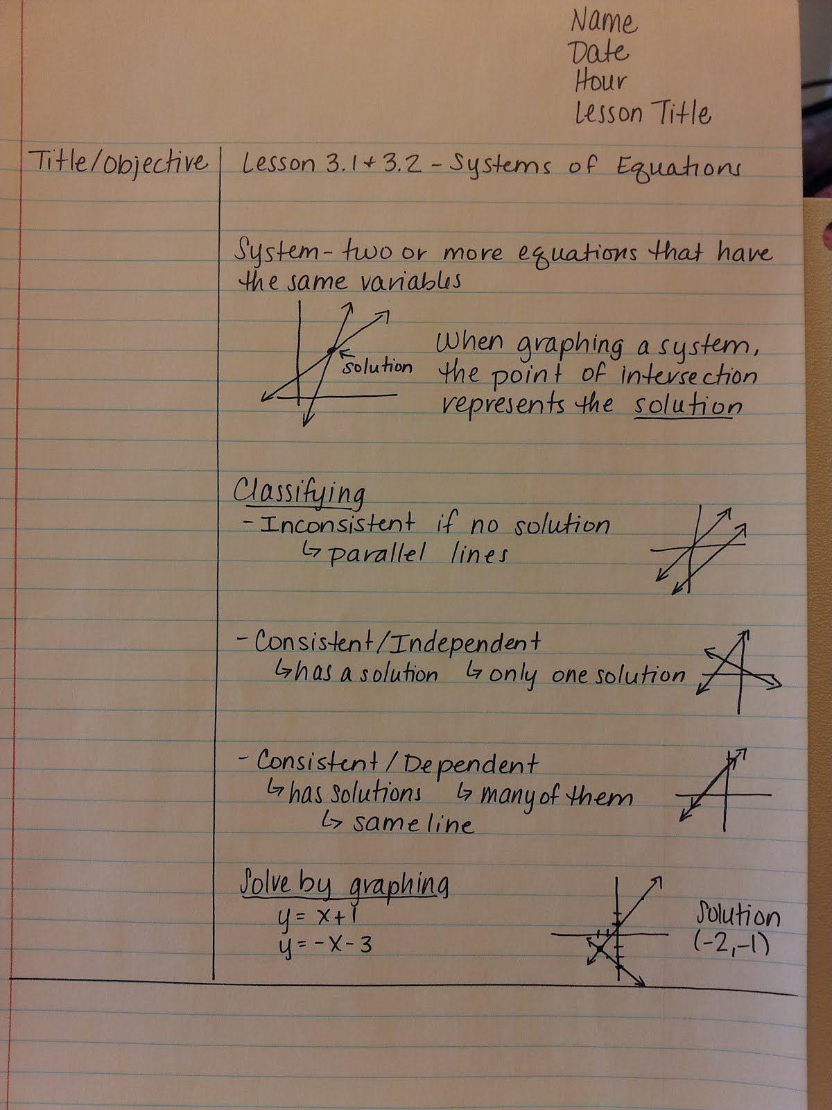 Teaching Statistics Cornell Notes In Math Class
