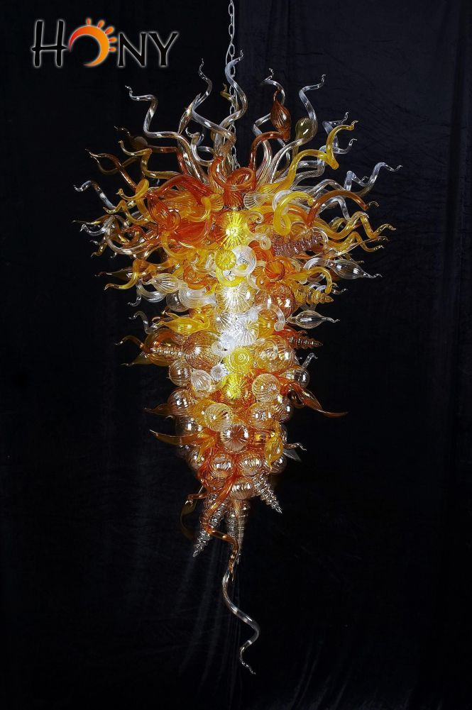 Best Ing Chihuly Style Modern Large Chandeliers Led Light Source 100 Hand N Glass Chandelier