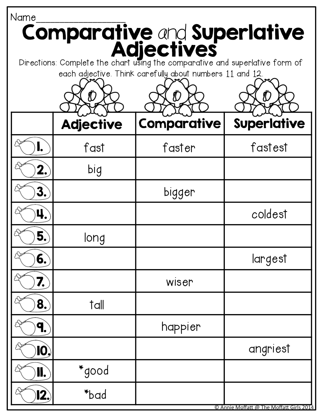 Comparative And Superlative Adjectives Tons Of Great