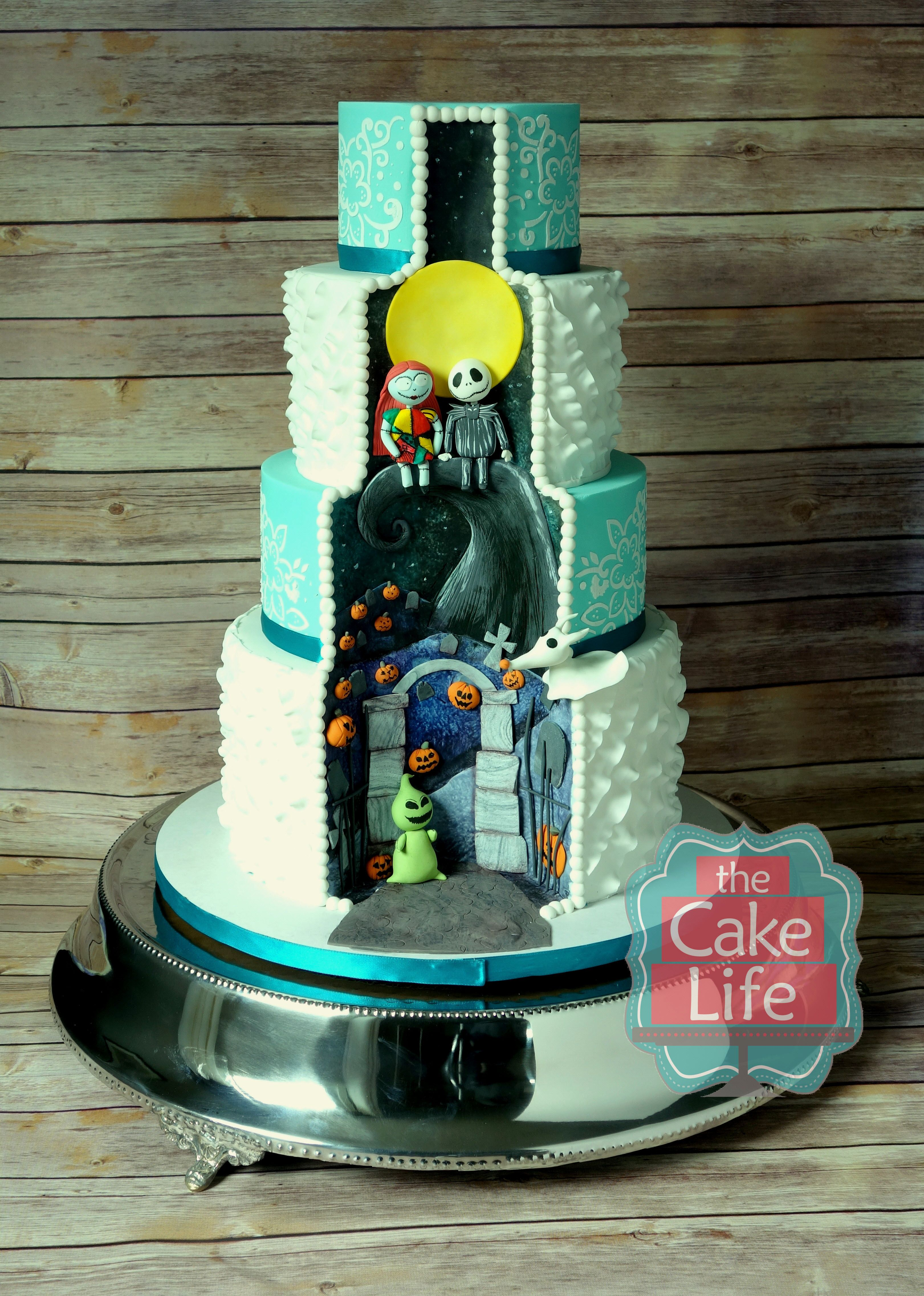 Nightmare Before Christmas Wedding Cake This Was The