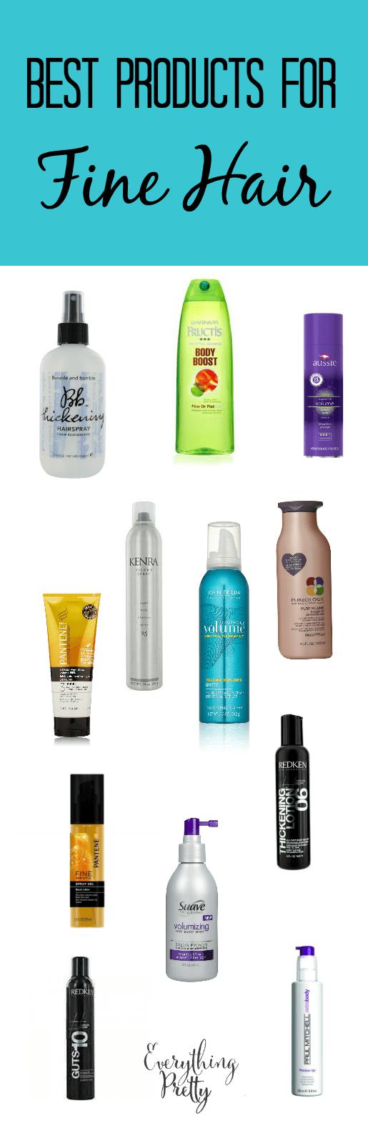 Best Hair Products for Fine Hair Fine hair, Hair style