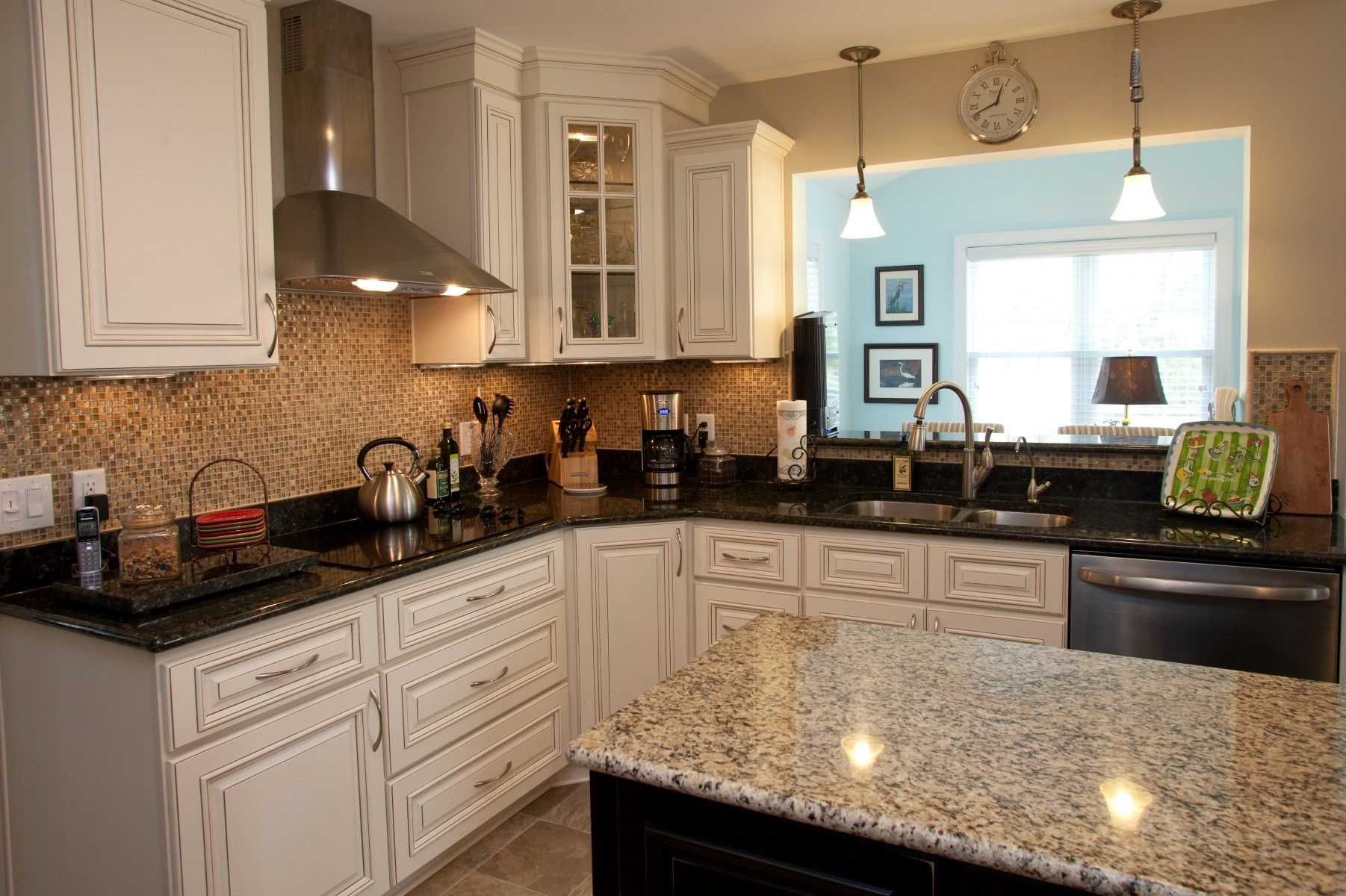 decorating your granite island images Kitchen. White