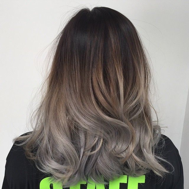 25 Best Ideas About Gray Balayage On Pinterest Gray Hair