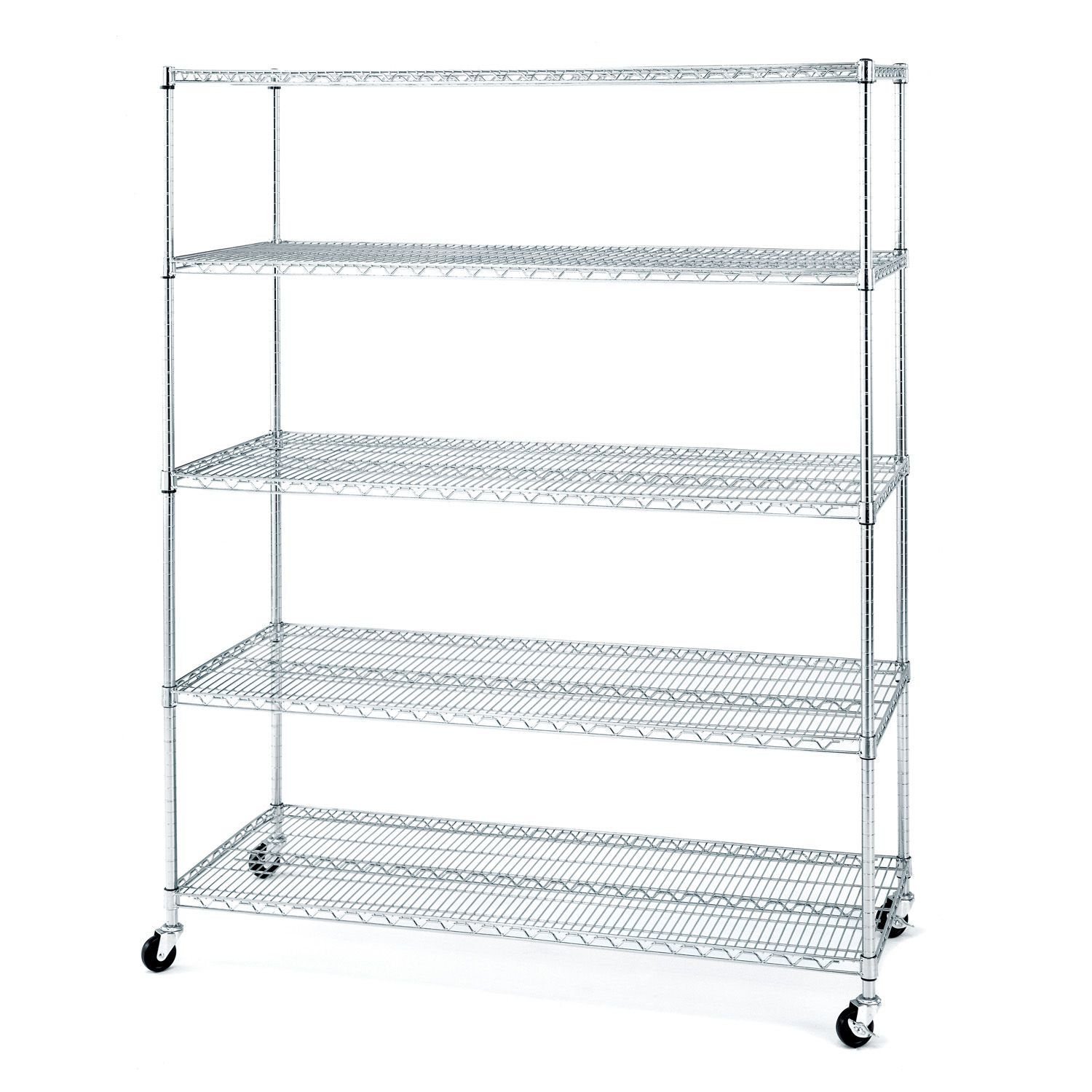Seville Classics 5 Level Large Chrome Shelving Unit