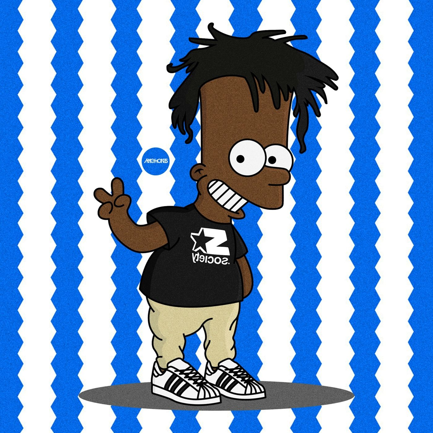 The Simpsons x Rap Icons Simpsonized by MachonisSet of