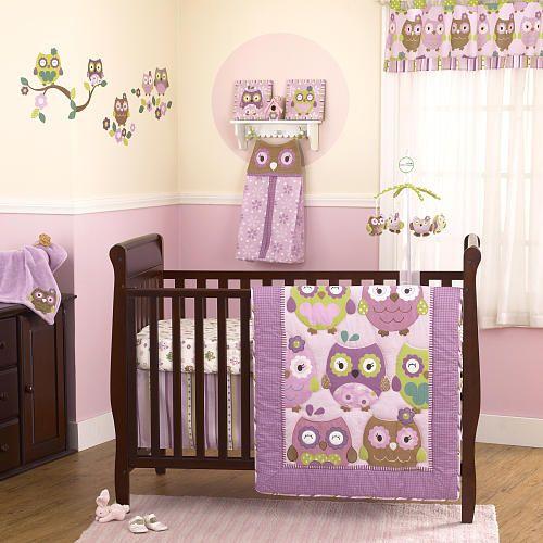 owl wonderland 4-piece crib bedding set - coco & company - babies