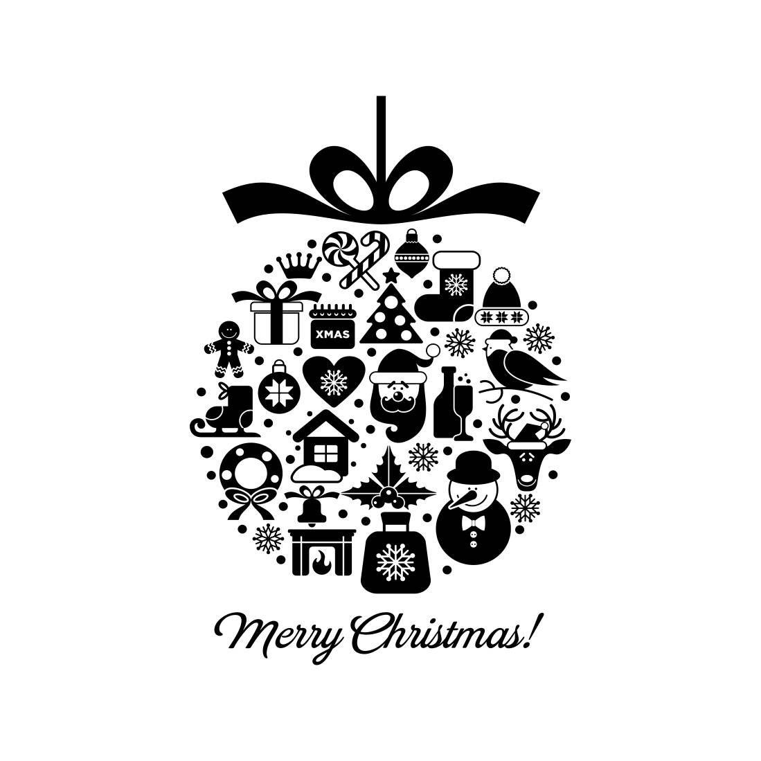Merry Chrismas Ball Elements Graphics Svg Eps Cdr Ai