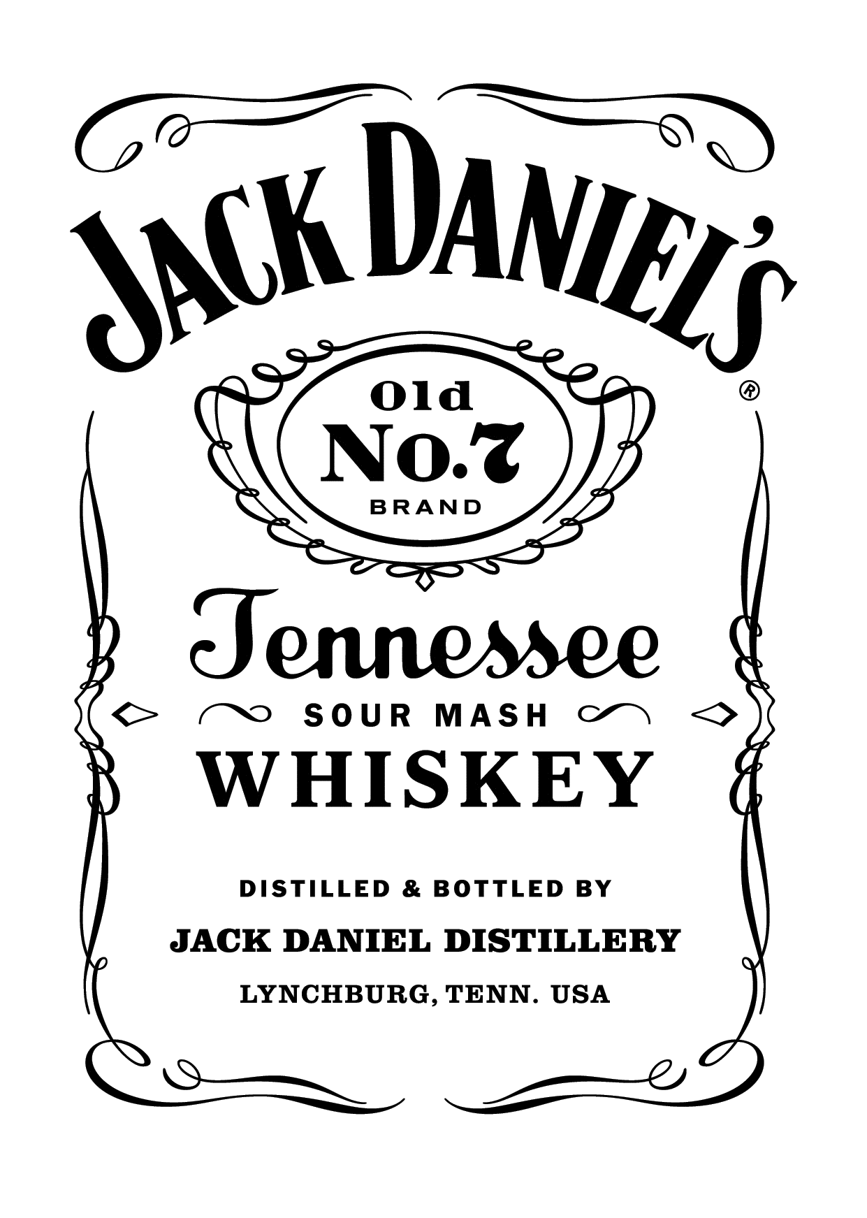 Jack Daniel's Old No. 7 drawing Pinterest Jack