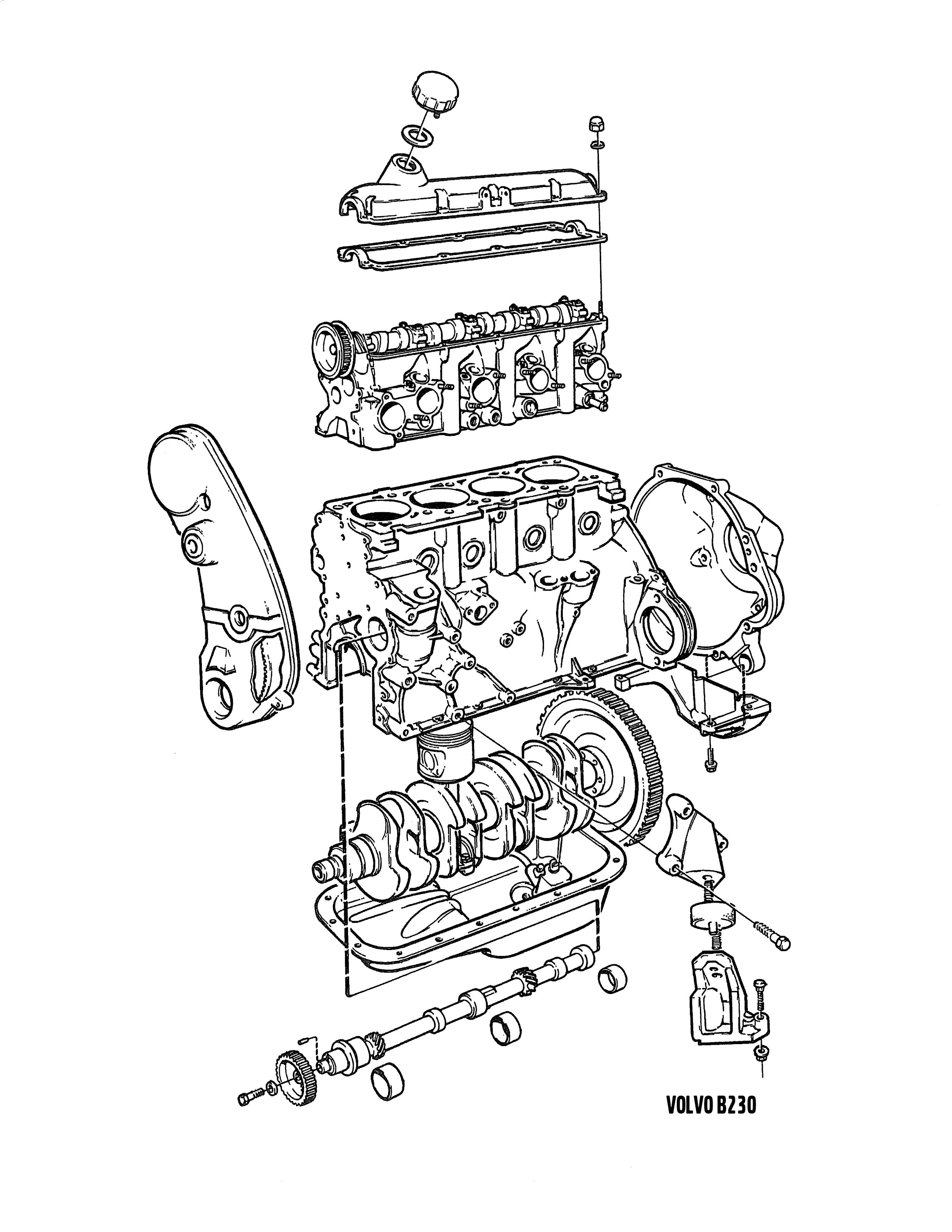 Volvo 740 Turbo Engine