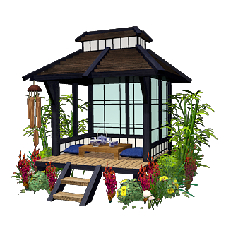 ancient japanese tea house Google Search japanese lawn