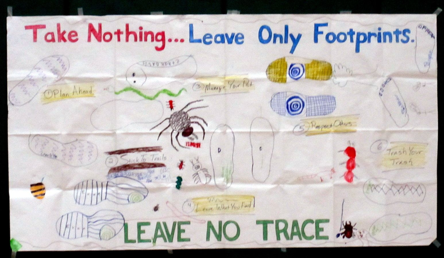 Leave No Trace Requirement 6 Draw A Poster Instead Of Having Each Cub Scout Make A Different