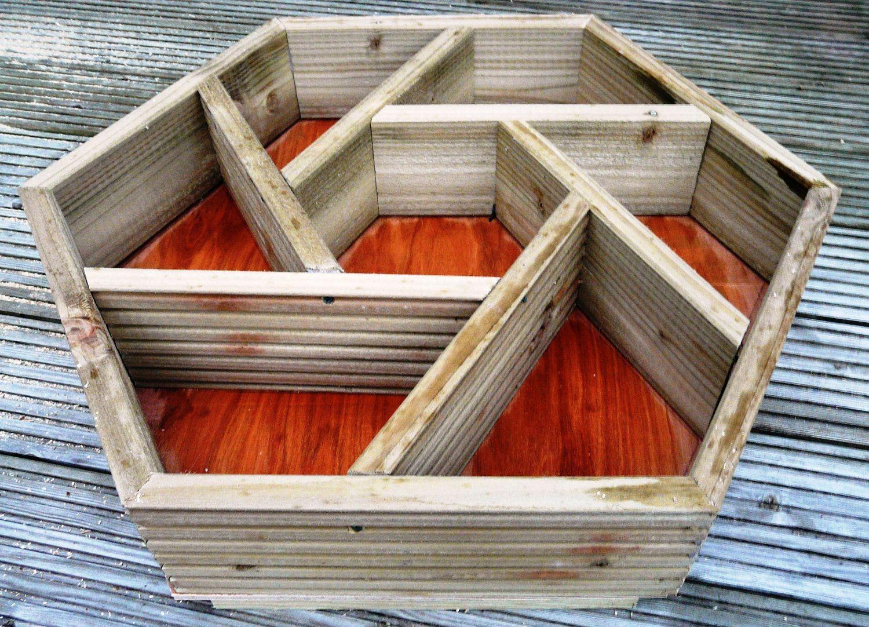 Hexagonal Herb Box Idea Gardening Ideas Pinterest