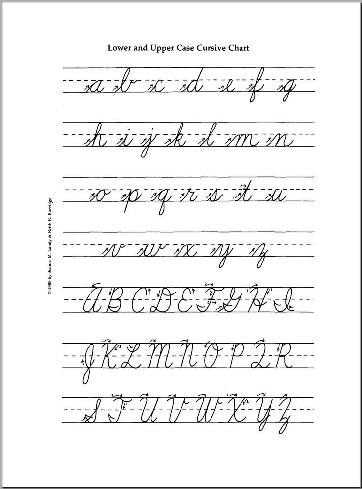Cursive Letters A To Z In Capital