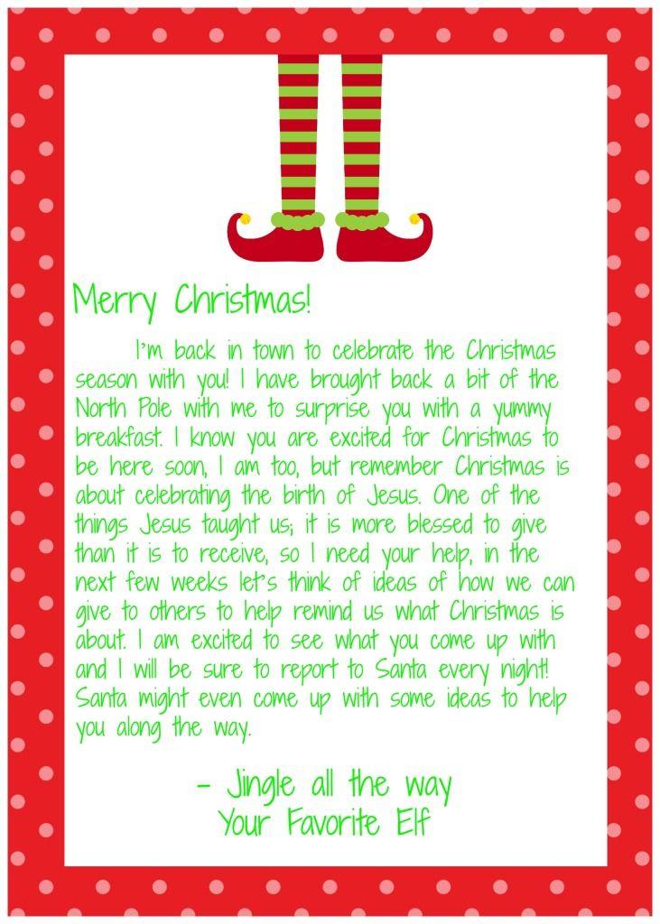 I'm back elf on the shelf letter! christmas Pinterest