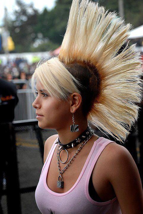 Bleach Blonde Hawk Mohawks Pinterest Bleach Blonde