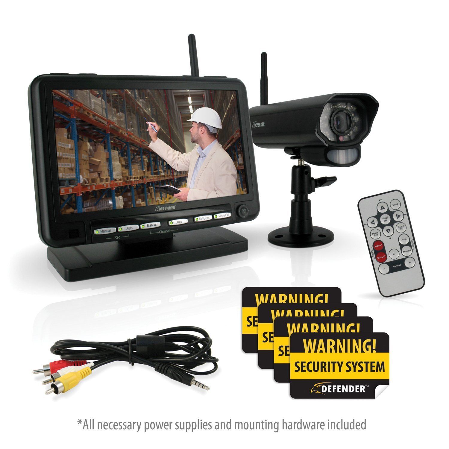 Defender PX301010 Digital Wireless DVR Security System