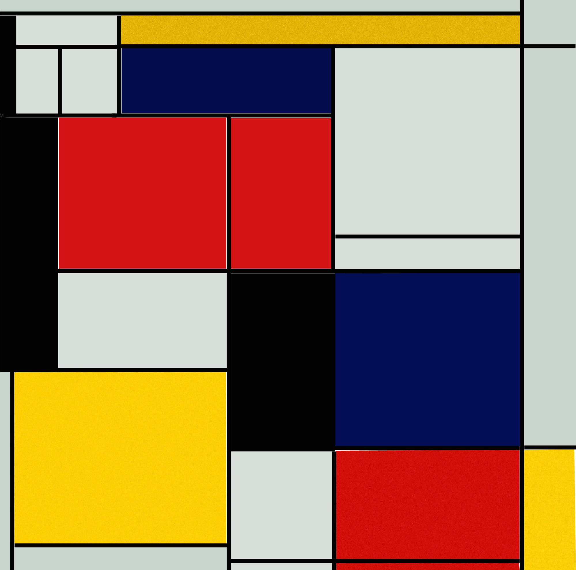 """My Piet Mondrian's """"Painting II"""" PS5 (19211925 Max Bill"""