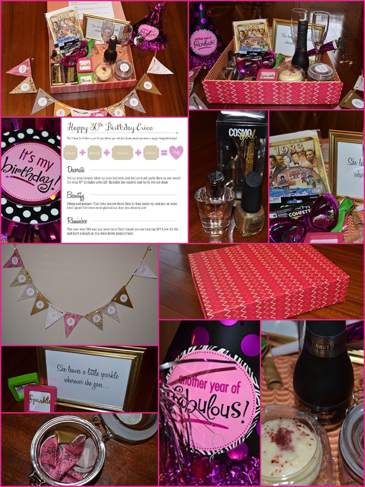 Party in a box! 30th birthday gift idea for those far away