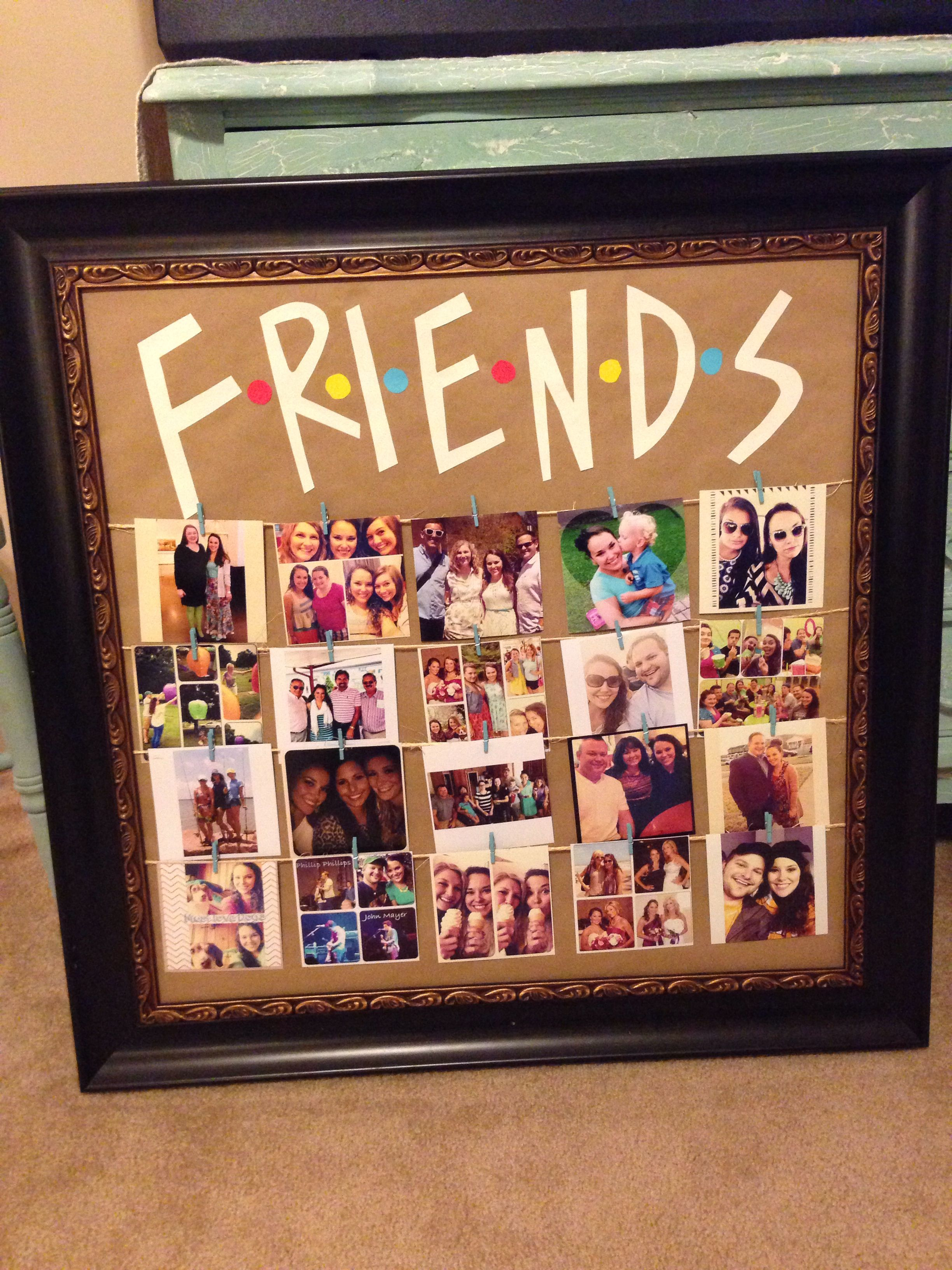 Friends tv show picture frame diy, party ideas Crafts