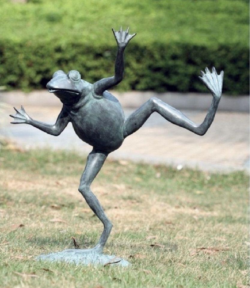 Brass Dancing Frog Water Spitter Pond Fountain Garden